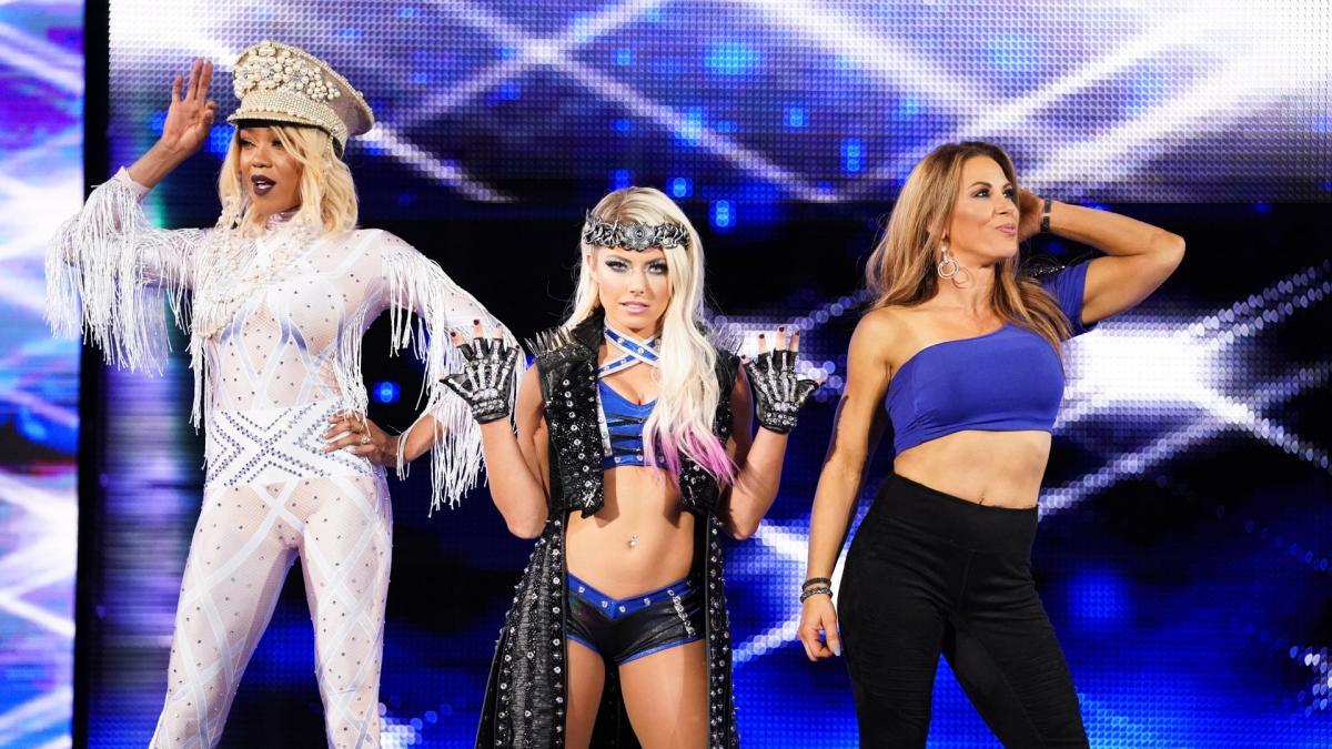 Alicia Fox, Alexa Bliss, Mickie James (source: WWE)