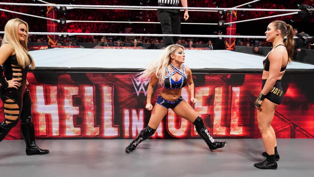 Natalya, Alexa Bliss, Ronda Rousey (source: WWE)