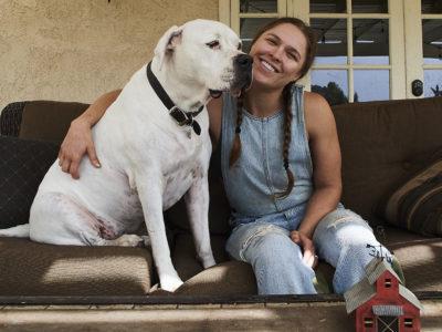 Ronda Rousey mochi dog
