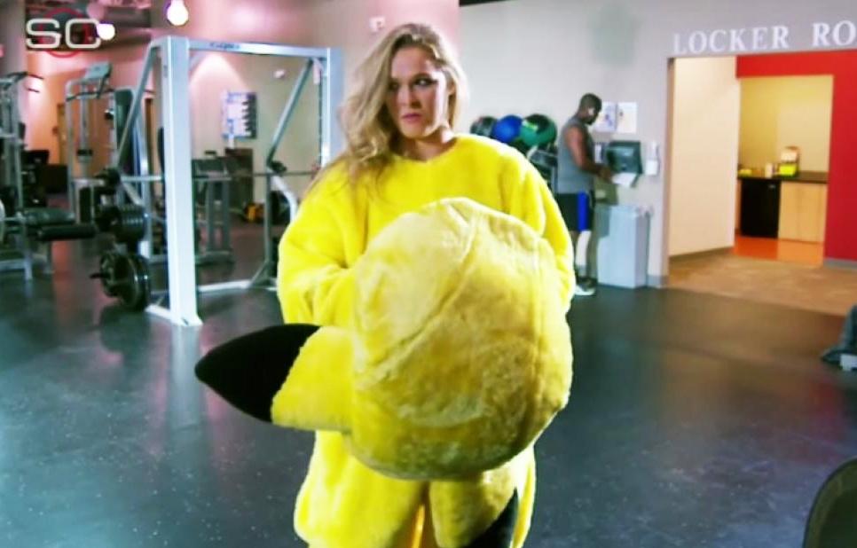 Ronda in Pikachu costume