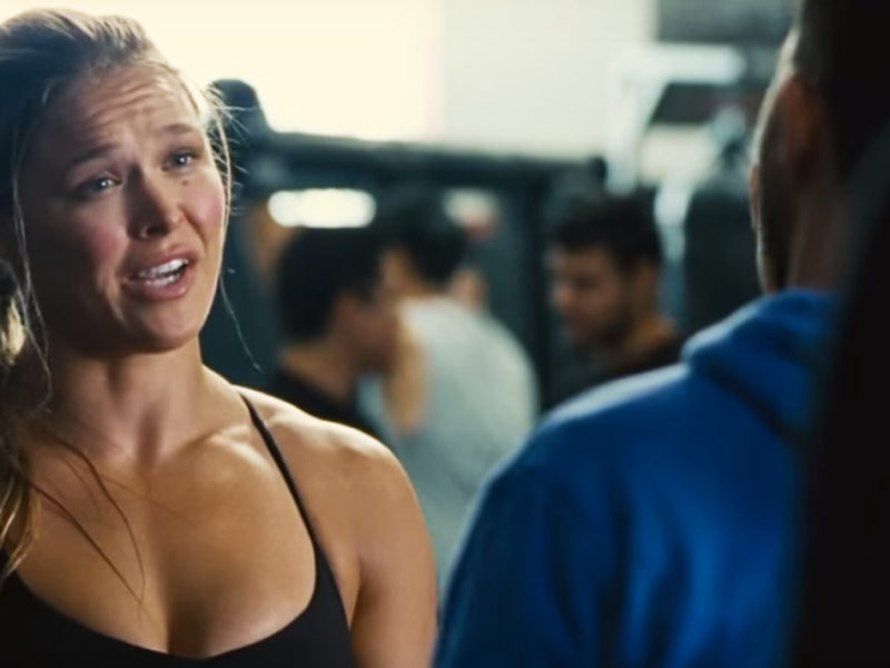 Rousey during Entourage