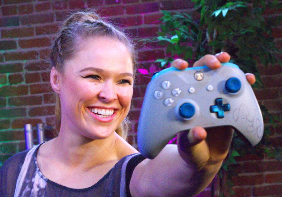 Ronda promoting Xbox One X
