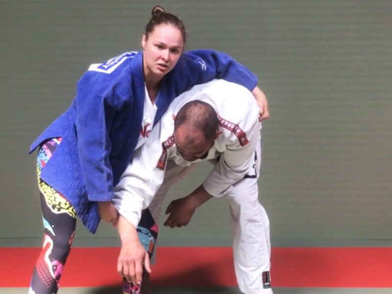 Rousey Sumi Gaeshi Opposite Sided
