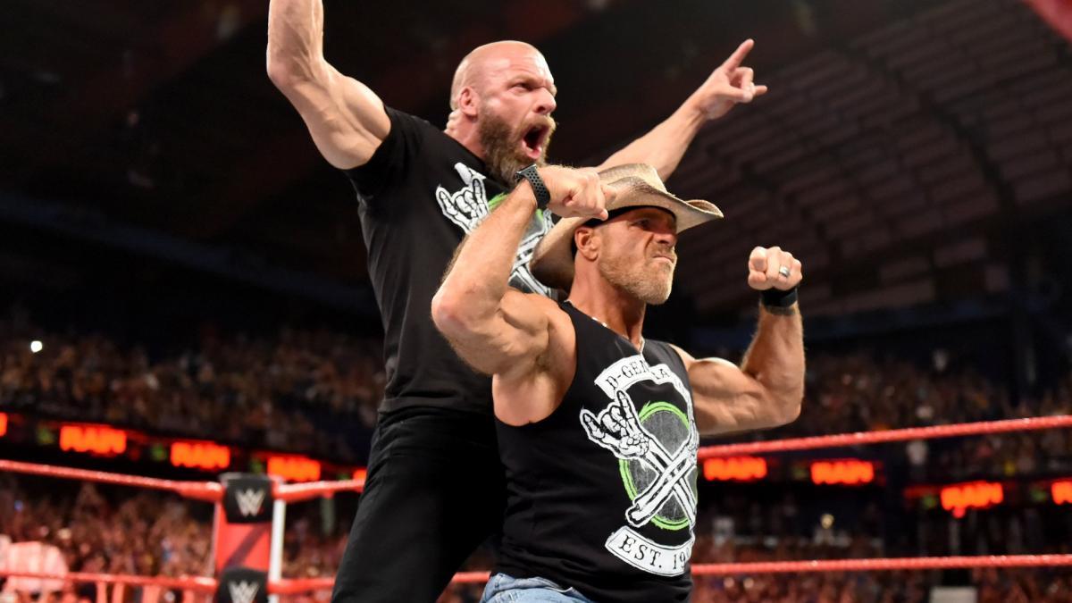 Triple H, Shawn Michaels (source: WWE)