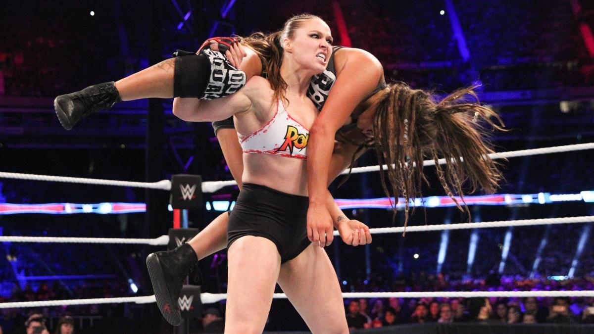 Ronda Rousey, Sarah Logan (source: WWE)