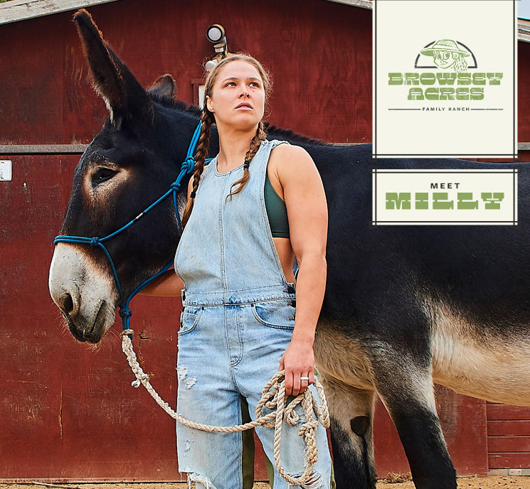 Ronda Rousey Browsey Acres Milly