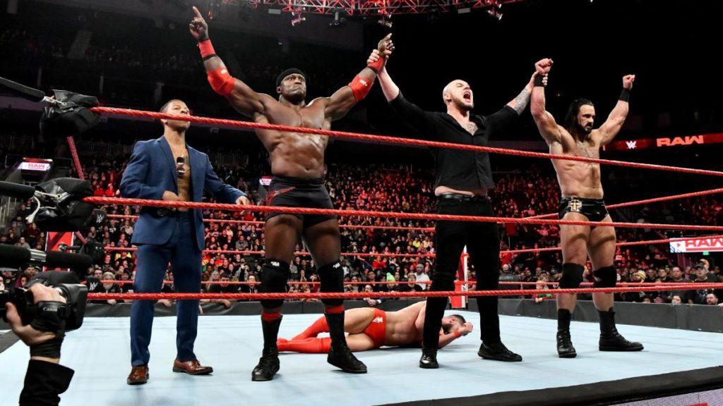 Lio Rush, Bobby Lashley, Baron Corbin, Drew McIntyre (source: WWE)