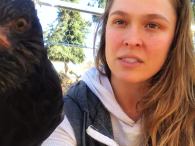 Ronda Rousey Browsey Acres chicken