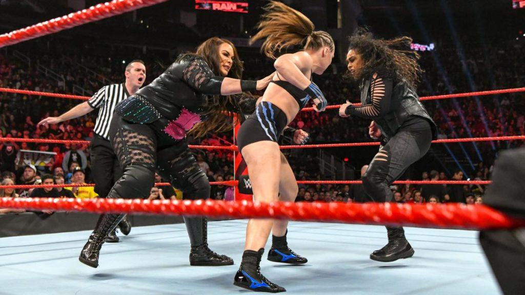 Nia Jax, Ronda Rousey, Tamina (source: WWE)