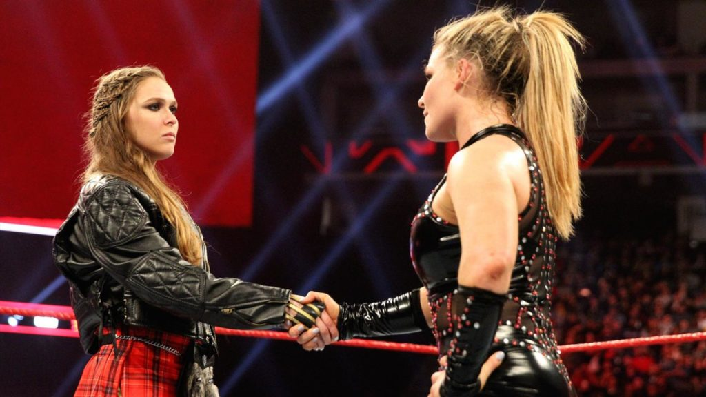 Ronda Rousey, Natalya (source: WWE)