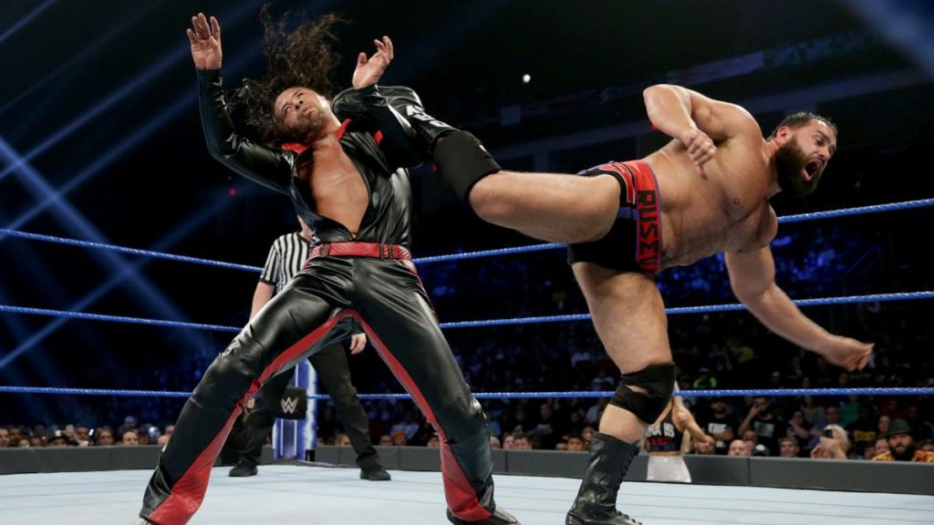 Nakamura, Rusev (source: WWE)