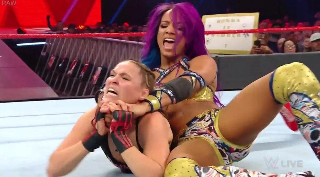 Ronda Rousey RAW Sasha Banks