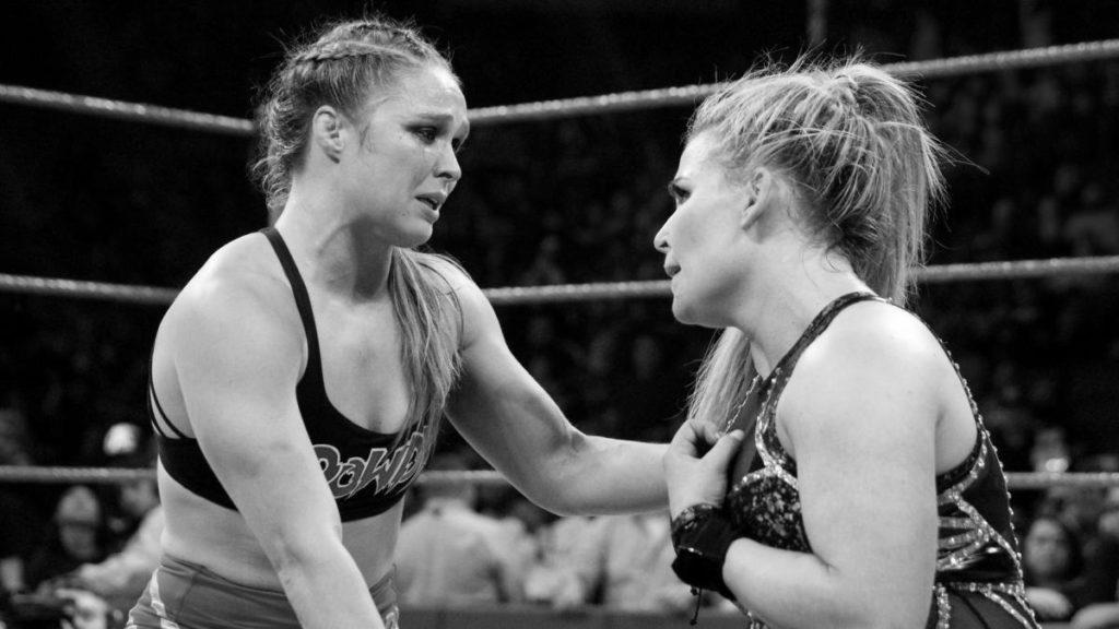 Ronda Rousey, Natalya (source: WWE)