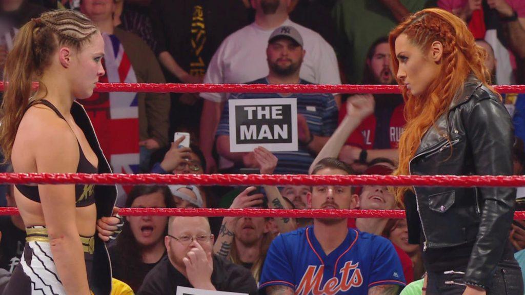 Ronda Rousey, Becky Lynch (source: WWE)