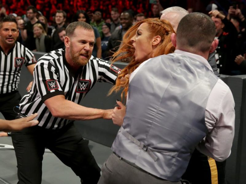 Becky Lynch held back from Ronda Rousey