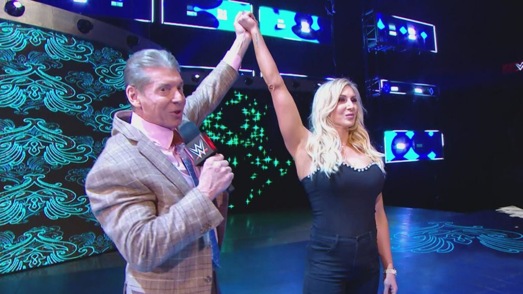 Vince McMahon, Charlotte Flair (source: WWE)