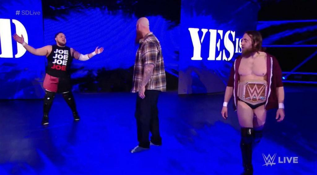 Samoa Joe, Rowan, Daniel Bryan (source: WWE)