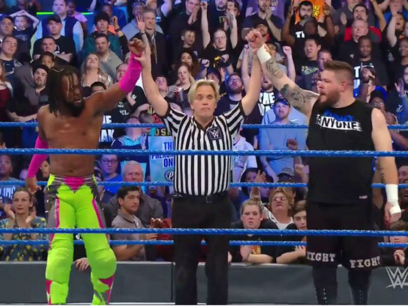 kofi kingston with kevin owens on smackdown