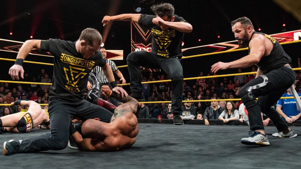 The Undisputed Era (Kyle O'Reilly, Roderick Strong, Bobby Fish) (source: WWE)