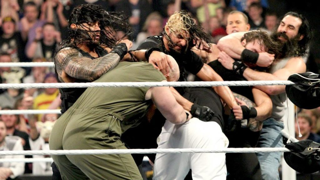 The Shield, The Wyatt Family (source: WWE)