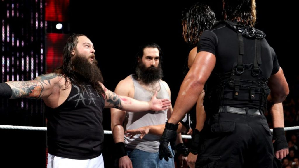 The Wyatt Family, The Shield (source: WWE)