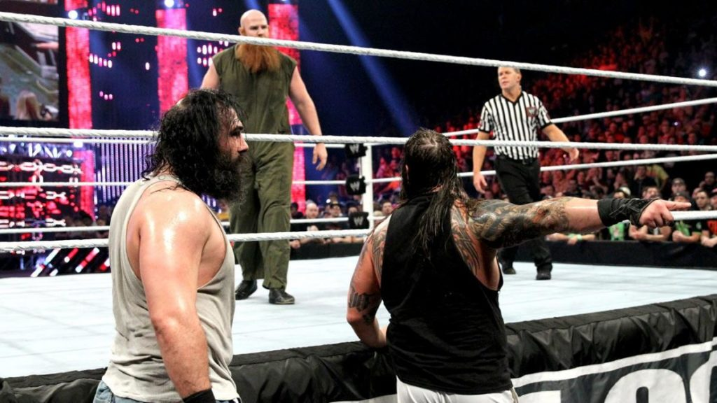 The Wyatt Family (Luke Harper, Erick Rowan, Bray Wyatt) (source: WWE)