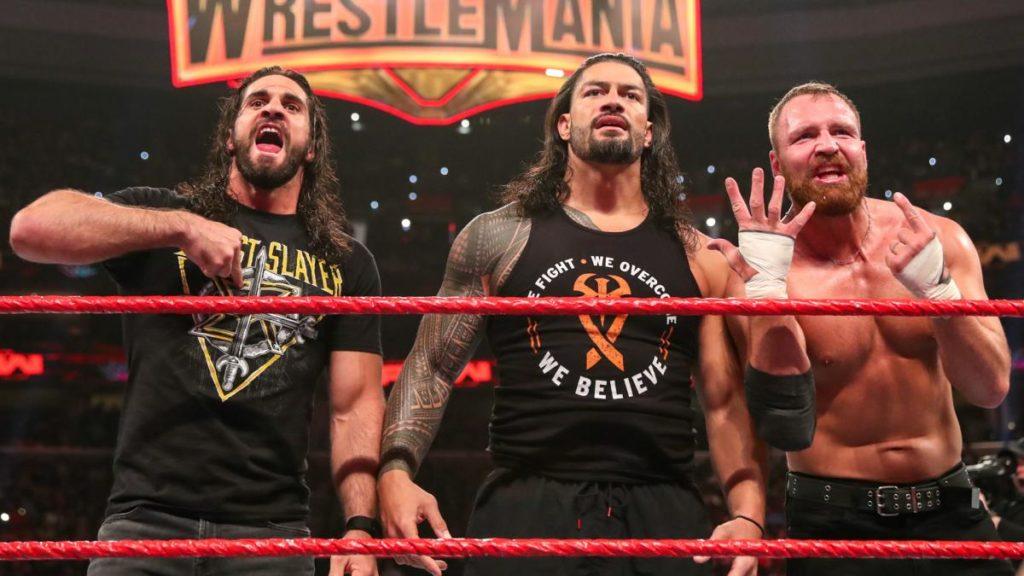 The Shield (Seth Rollins, Roman Reigns, Dean Ambrose) (source: WWE)