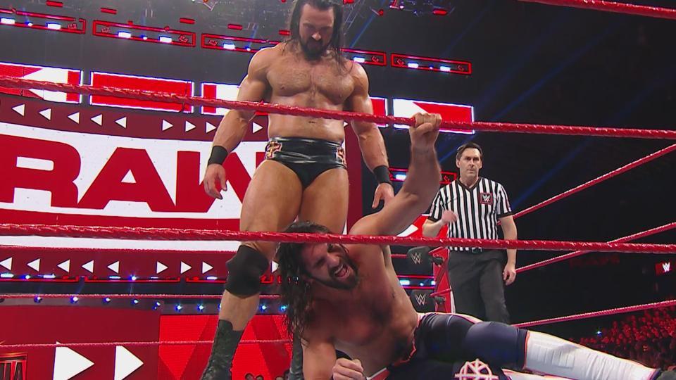 Drew McIntyre, Seth Rollins (source: WWE)