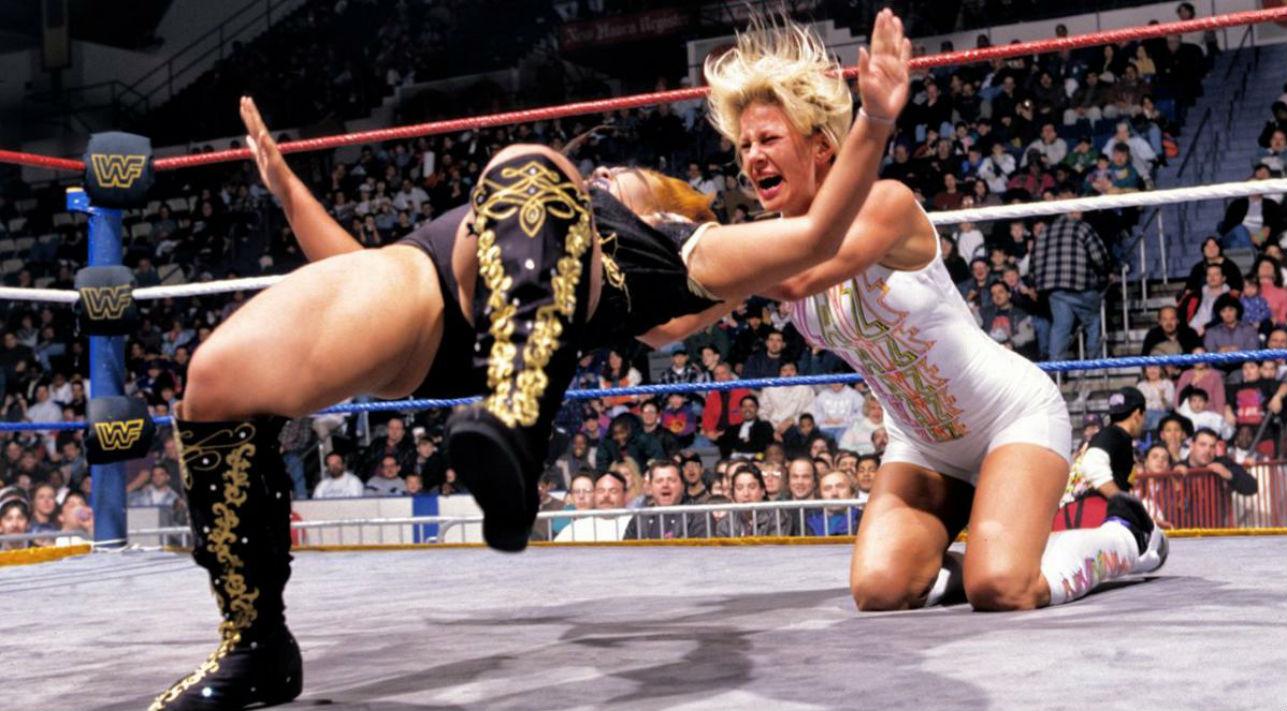 Alunda Blayze and Bull Nakano in vintage WWE