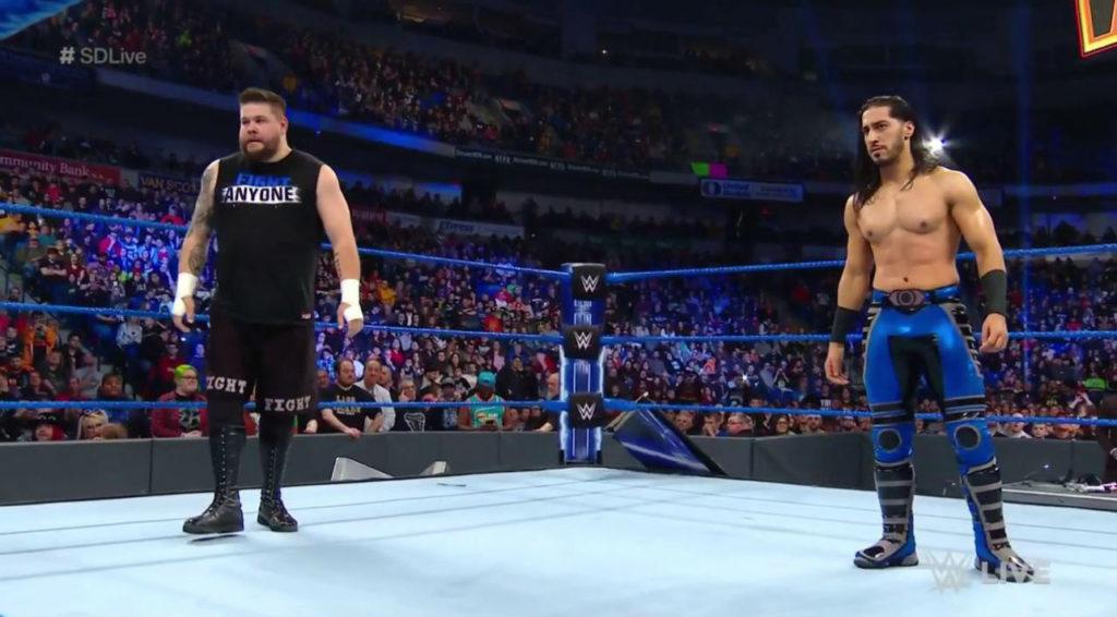Kevin Owens, Mustafa Ali (source: WWE)