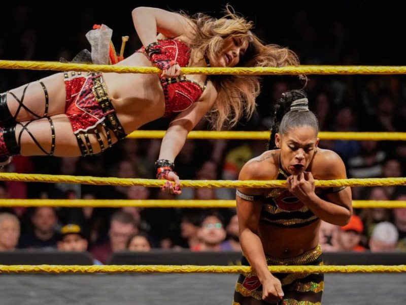 Io Shirai and Bianca Belair on NXT