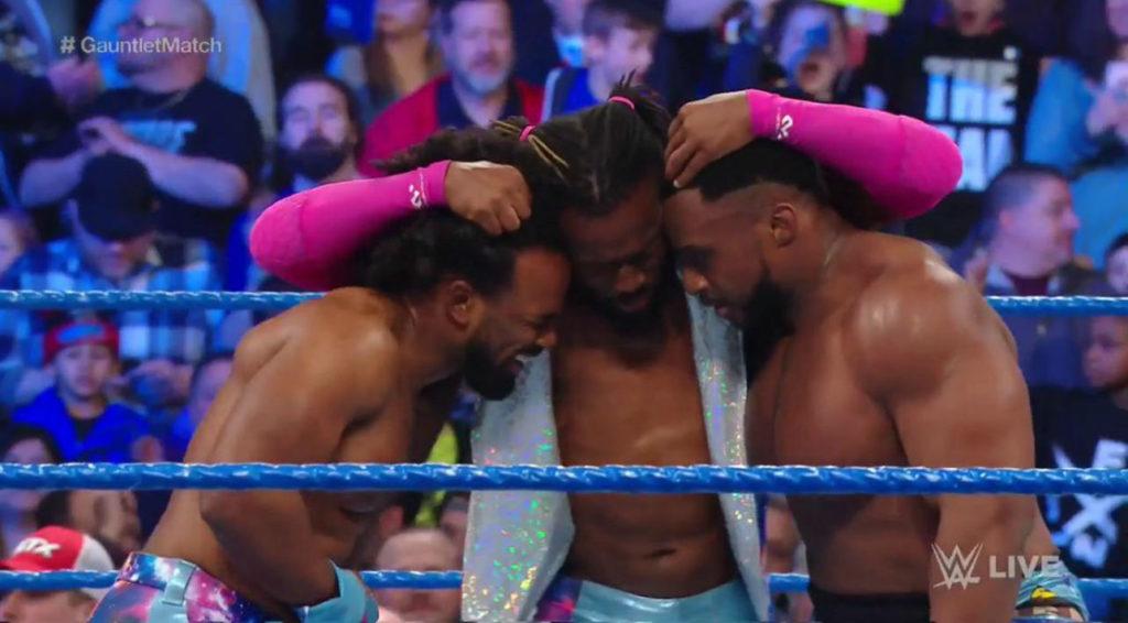 The New Day (Xavier Woods, Kofi Kingston, Big E) (source: WWE)
