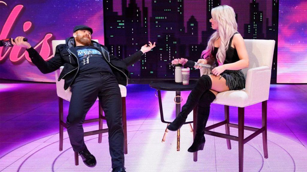 Sami Zayn, Alexa Bliss (source: WWE)