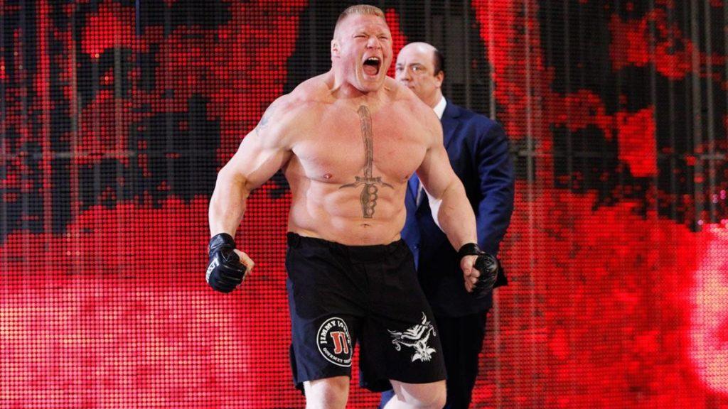Brock Lesnar, Paul Heyman (source: WWE)