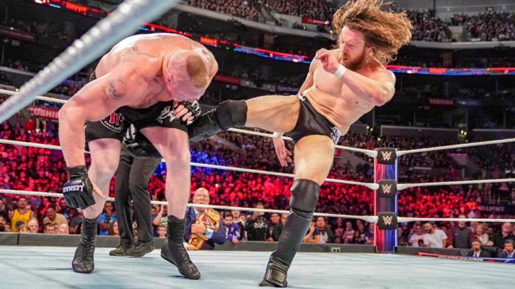 Brock Lesnar, Daniel Bryan (source: WWE)