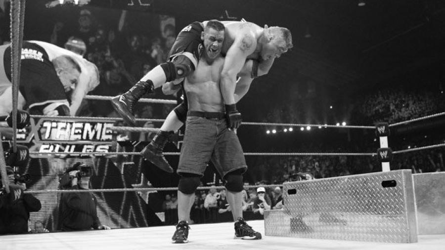 John Cena, Brock Lesnar (source: WWE)