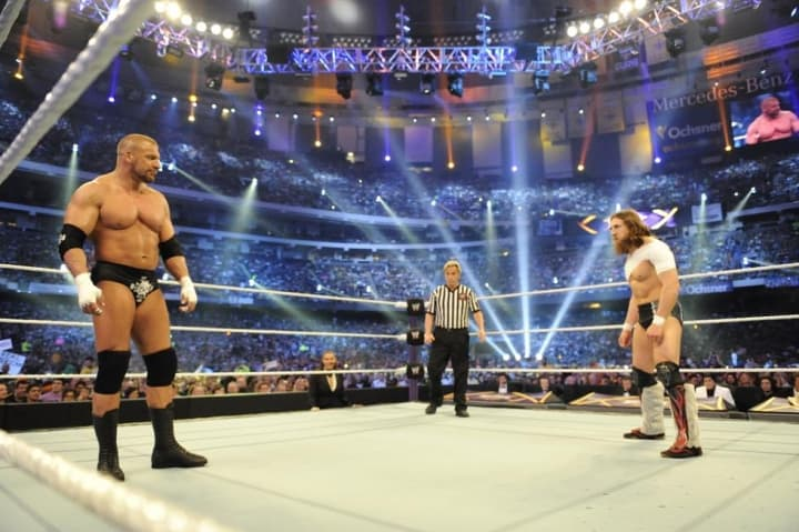 Triple H, Daniel Bryan (source: WWE)