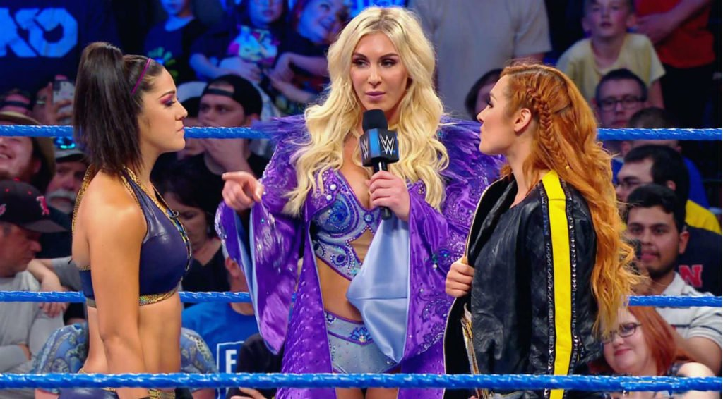 Bayley, Charlotte Flair, Becky Lynch (source: WWE)