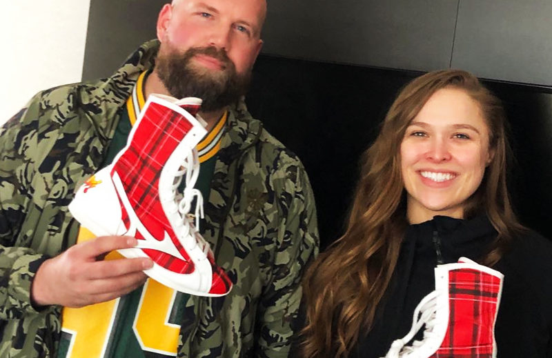 Ronda Rousey's WrestleMania shoes