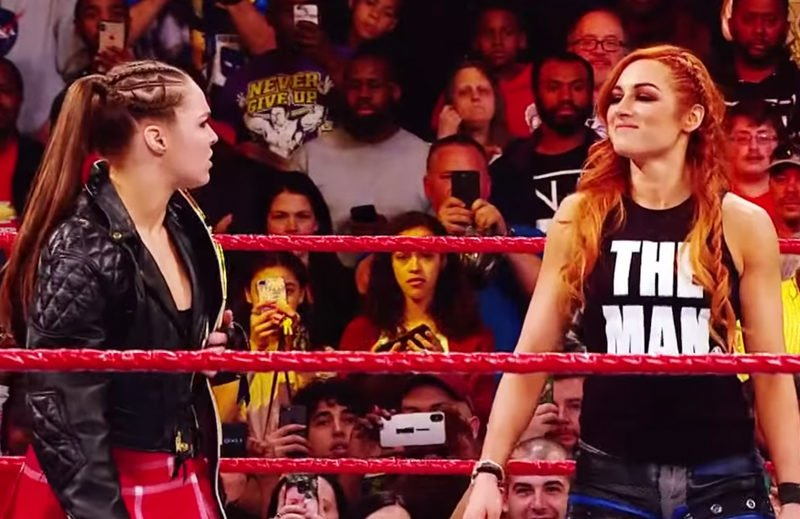 Ronda Rousey and Becky Lynch on RAW