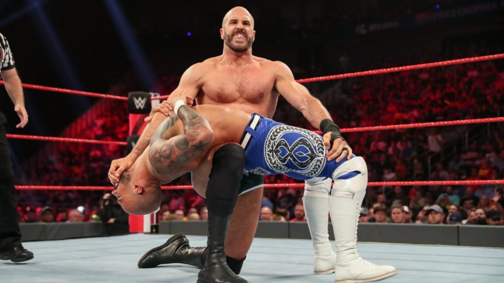 Ricochet, Cesaro (source: WWE)