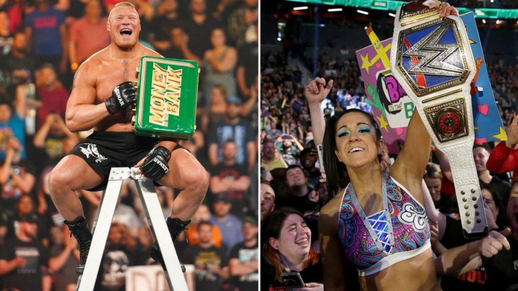 Brock Lesnar, Bayley (source: WWE)