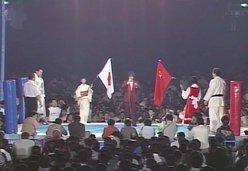 Antonio Inoki, Shota Chochishvilli (source: NJPW)