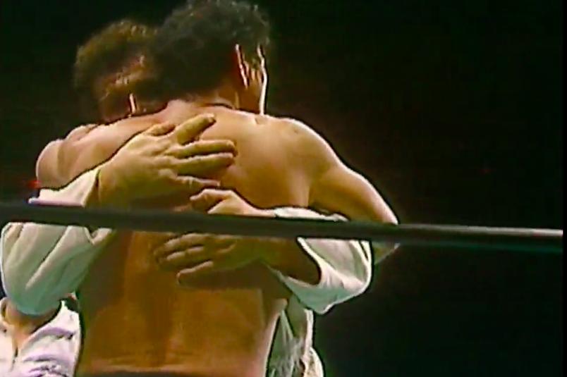 Shota Chochishvilli, Antonio Inoki (source: NJPW)