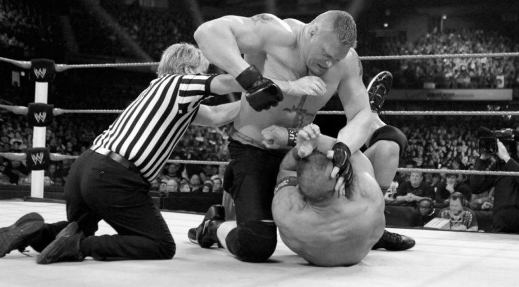 Brock Lesnar, John Cena (source: WWE)