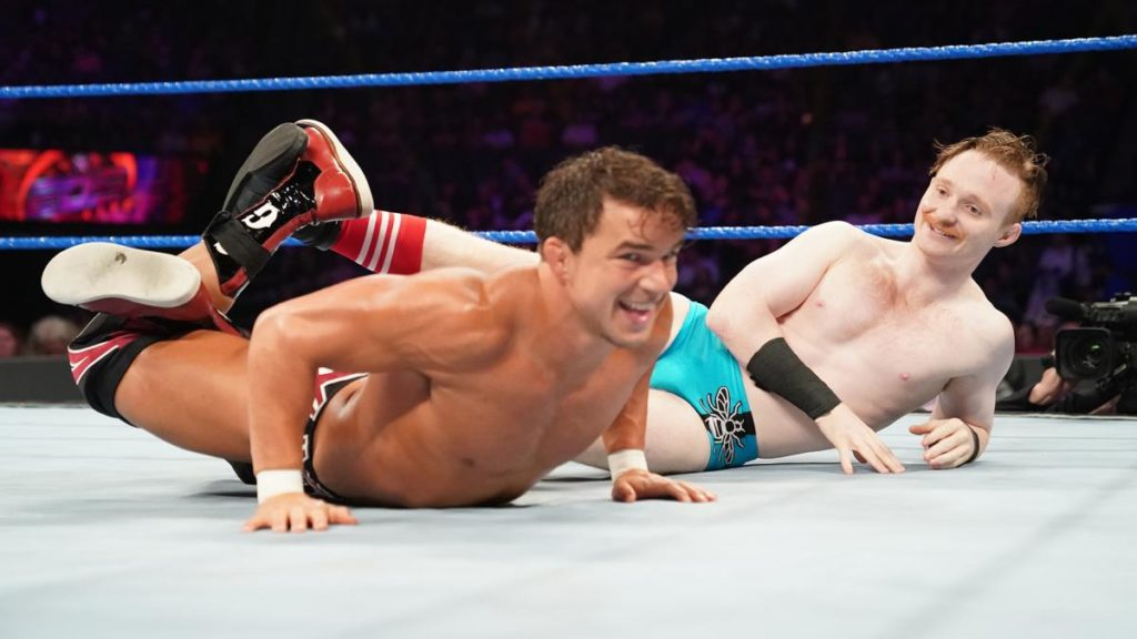 "Chad Gable, ""Gentleman"" Jack Gallagher (source: WWE)"