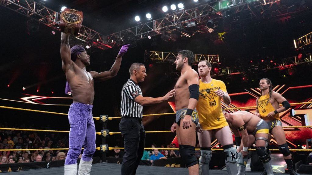 Velveteen Dream, Roderick Strong, Kyle O'Reilly, Bobby Fish, Adam Cole (source: WWE)