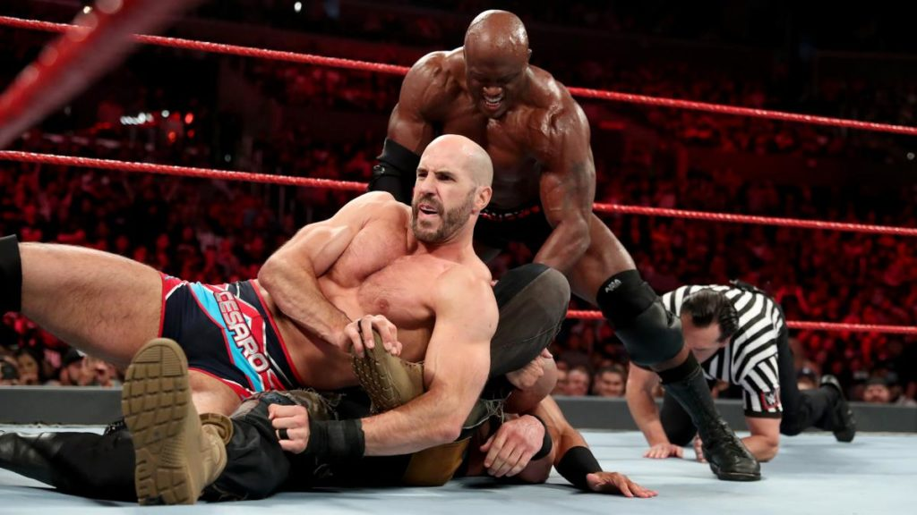 Cesaro, Braun Strowman, Ricochet, Bobby Lashley (source: WWE)