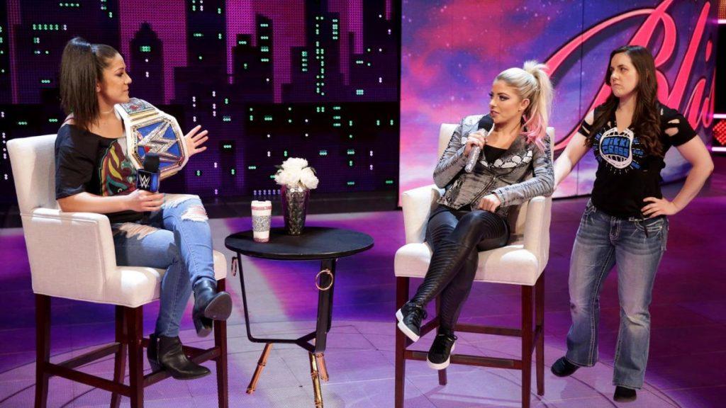 Bayley, Alexa Bliss, Nikki Cross (source: WWE)