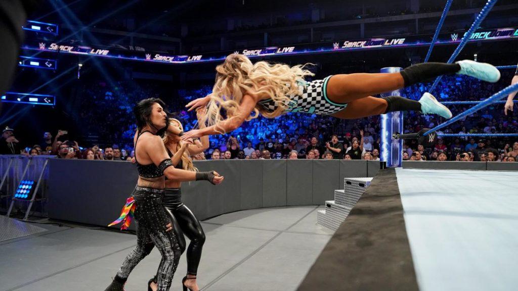 Sonya Deville, Mandy Rose, Carmella (source: WWE)